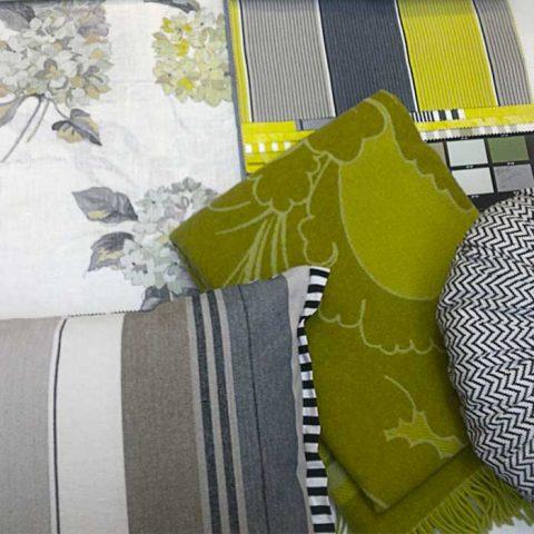 Mielenkiintoinen tekstiilisuunnitelma sisältää tarpeeksi harmoniaa ja sopivasti kontrastia.